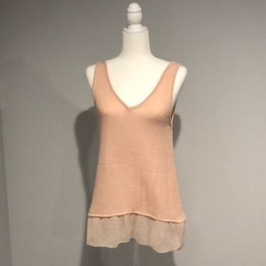 Light Pink Sweater Tank Top Shirt